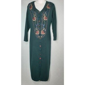 Carole Little Embroidered Sweater Dress